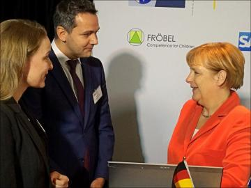 Dr Angela Merkel with Olde Lorenzen