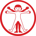 Human Body workshop logo - child illustration