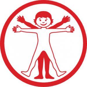 Human Body workshop logo - child illustration