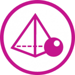 Mathematics workshop logo - prism and sphere