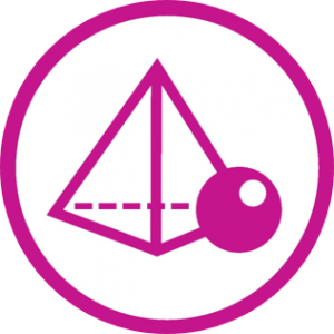 Mathematics workshop logo - prism and sphere