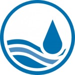 Water workshop logo - rain drop in water
