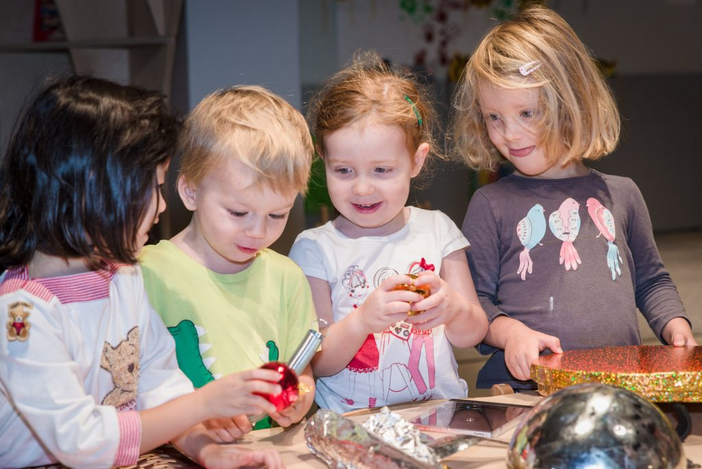 Pre-school children engaged in STEM activity