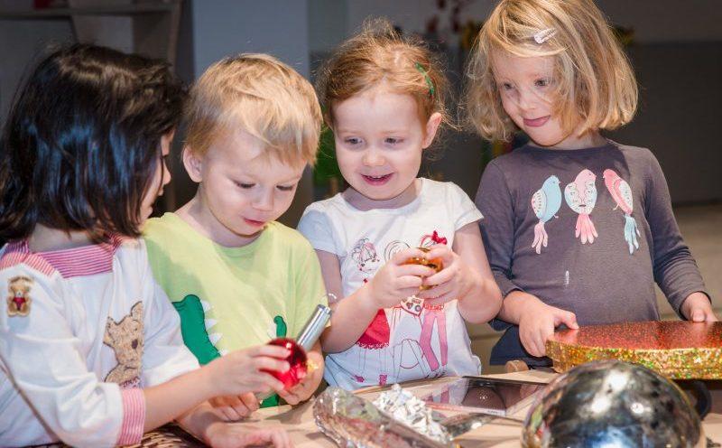Pre-school children engaged in STEM activity