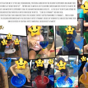 Children making soda stream fizzy drink