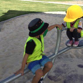 2 kids on seesaw