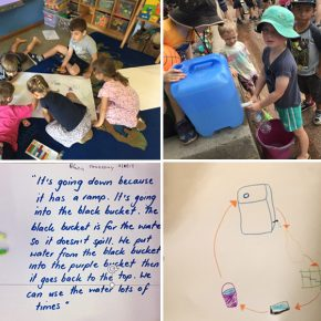 Children exploring water systems
