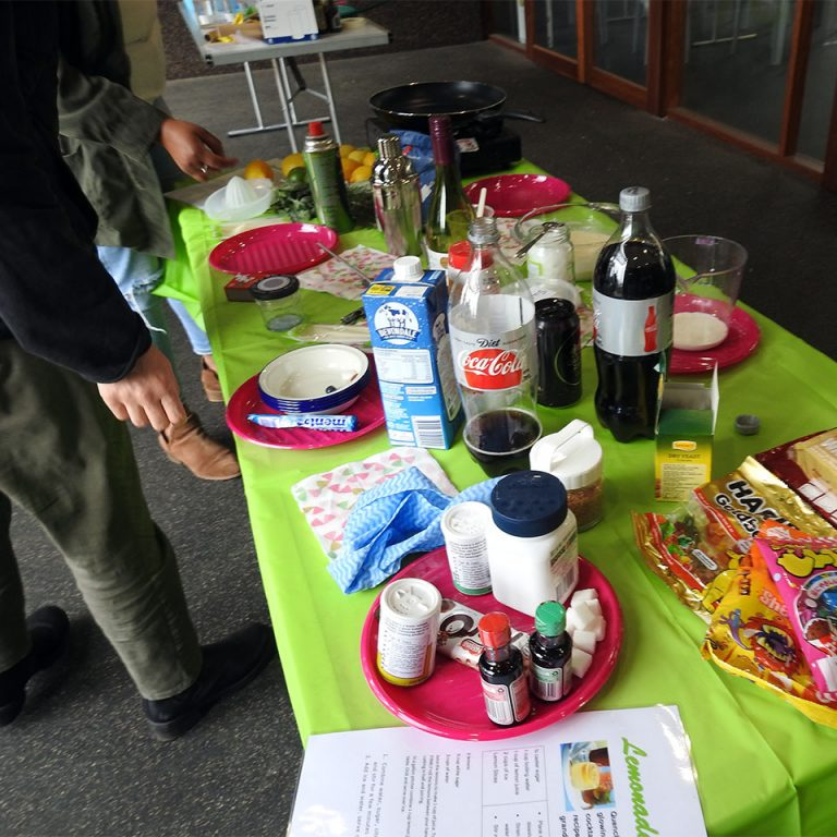 Chemical reactions workshop table