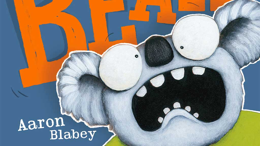 Angry looking koala - Book cover: Don't call me Bear