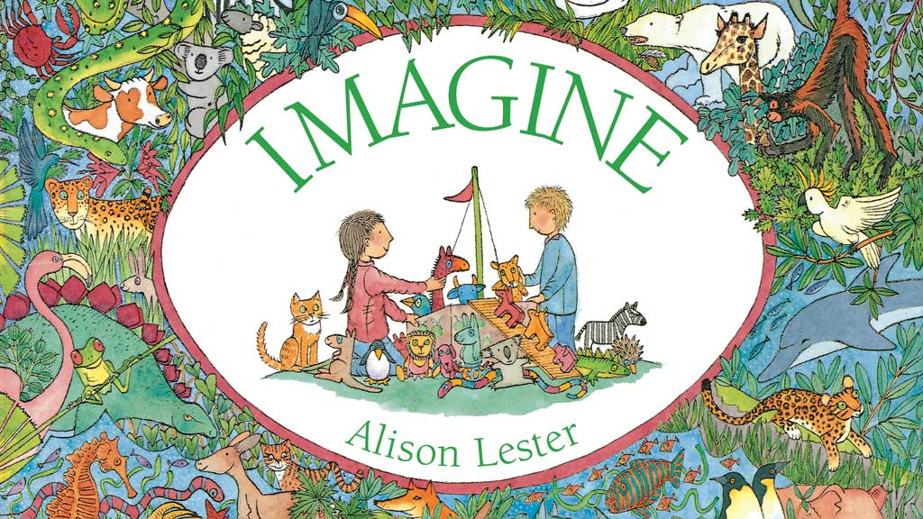 Imagine book cover by Alison Lester