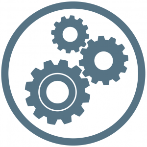 Design and Technologies STEM workshop icon - Cogs