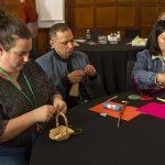 Educators exploring loose parts in professional identity activity