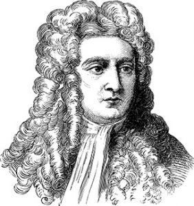 Illustration of Isaac Newton
