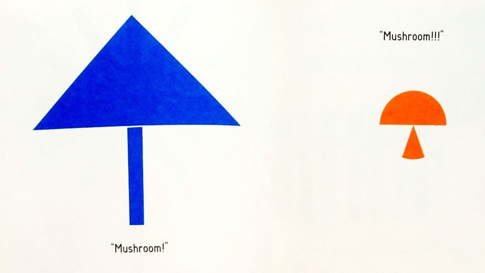Mushrooms made out of shapes