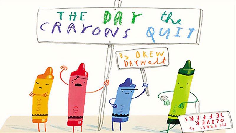 Crayons picketing