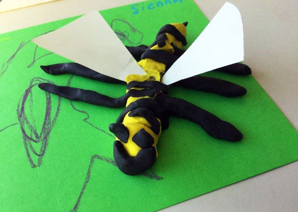 Child's model of a bee