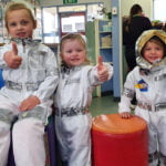 Children dressed as astronaughts